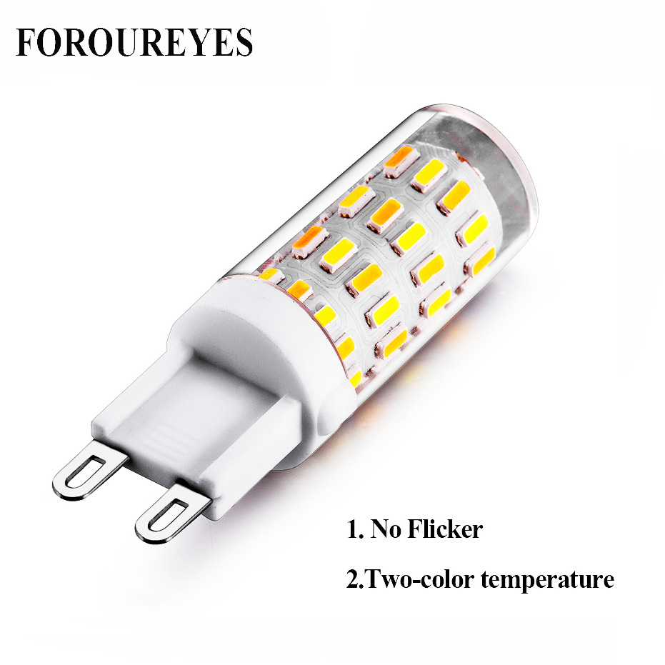 The New Super Bright G9 LED Lamp No Flicker Three Color Temperature 220V Bulb SMD4014 60LEDS Light Replace 40W Halogen Lamp