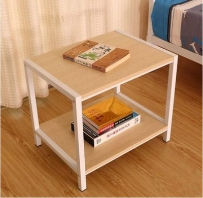 Bon Hot Steel And Wood Coffee Table Small Coffee Table Nightstand Phone A Few  Double Locker Printer