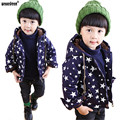 WEONEDREAM Baby Boys Girls Autumn Winter Jacket Fashion Star Pattern Long Sleeve Children Clothes Kids Outwear Boy Girl Coats