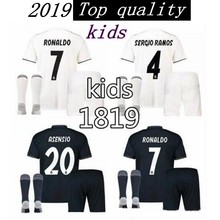 67955836a Children 18 19 RM Real madrid kids shirts home away custom name number ronaldo  7 AAA quality soccer sets shirts+shorts+socks