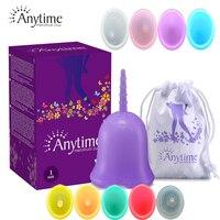 Силиконовые менструальные чаши в любое время, FDA Copa менструальные женские гигиенические принадлежности, инструменты для женской гигиены с ...