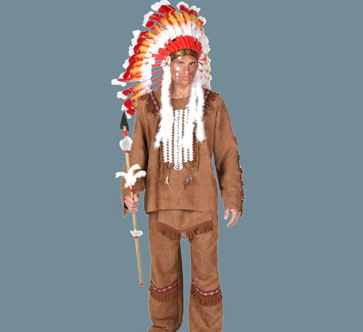 IREK New Halloween Costume Adult Male Luxury Indian Chief Cosplay Costume Factory Direct High Quality