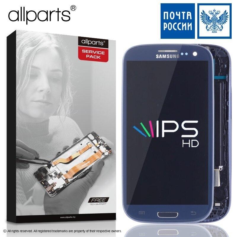 I9300i i9300 Display Für SAMSUNG Galaxy S3 LCD Screen Montage mit Rahmen Ersatz Für SAMSUNG Galaxy S3 Display i9300 LCD