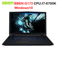 BBEN G173 Laptop Gaming Computer Intel I7 6700K Processor 1920x1080 FHD Windows10 System DDR4 Socket Memory