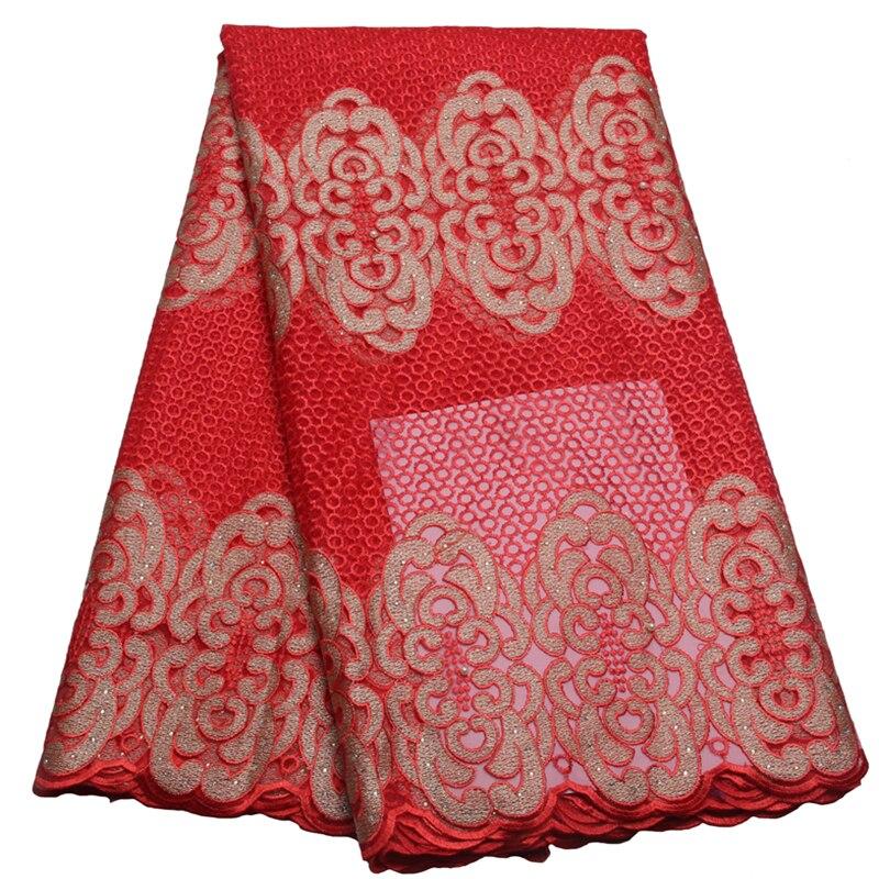 ▽Nuevo estilo de moda vestido de boda neto francés del cordón tela ...