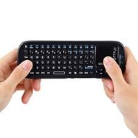 Mini Teclado Sem Fio 2.4G RF Teclado QWERTY Com Touchpad Air Mouse Gaming Keyboard USB Para Caixa de TV Android Tablet PC