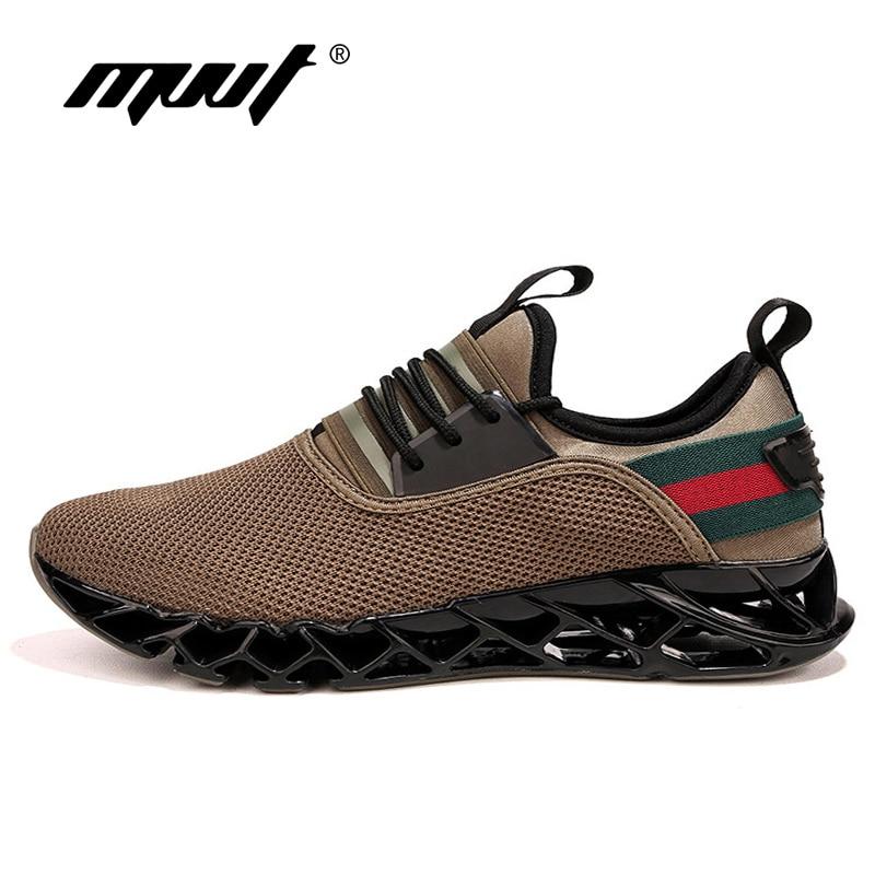 Verano nuevos hombres transpirables zapatos corrientes amortiguación hoja hombres zapatos zapatillas de deporte viajar zapatos para caminar