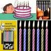 10Pcs קסם הצית שוב את נרות Tricky יום הולדת נצחי נושבת נרות מסיבת יום הולדת עוגת Decors