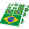 Brazilian Flag Brazil BR Ho Car Auto Motorcycle Decal Set Sticker Helm Scratch Off Cover Ipad Notebook Laptop Handy Car Styling