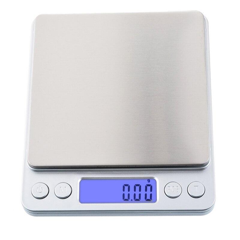 Цифровые светодиодные весы, Карманные электронные весы из нержавеющей стали для золота и выпечки