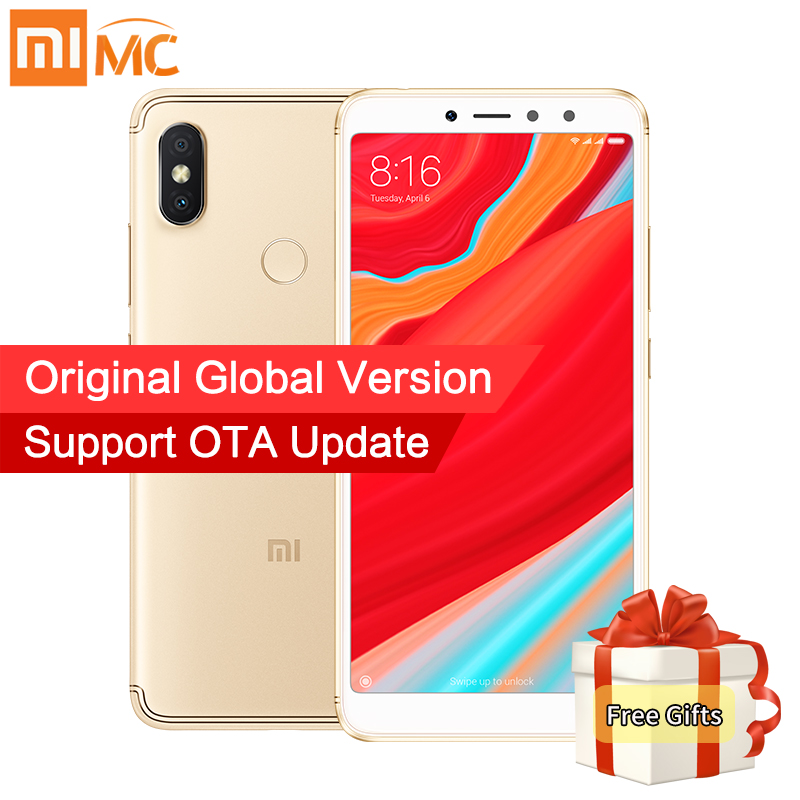 Global Versão Xiaomi Redmi S2 3 gb 32 gb Smartphone Android 8.1 Snapdragon 625 Núcleo octa 5.99 Tela Cheia 12MP + 5MP Dual Camera