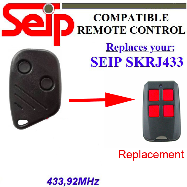 20pcs Seip SKRJ433 garage door replacement 433mhz remote DHL free shipping seip skr433 1 replacement 433 92mhz remote control dhl free shipping