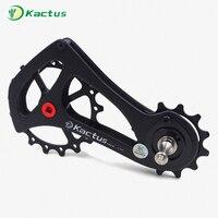 Керамический подшипник 11 скорость углеродного волокна велосипед задний переключатель велосипед негабаритных шкив Jockey SRAM RIVAL силы красный
