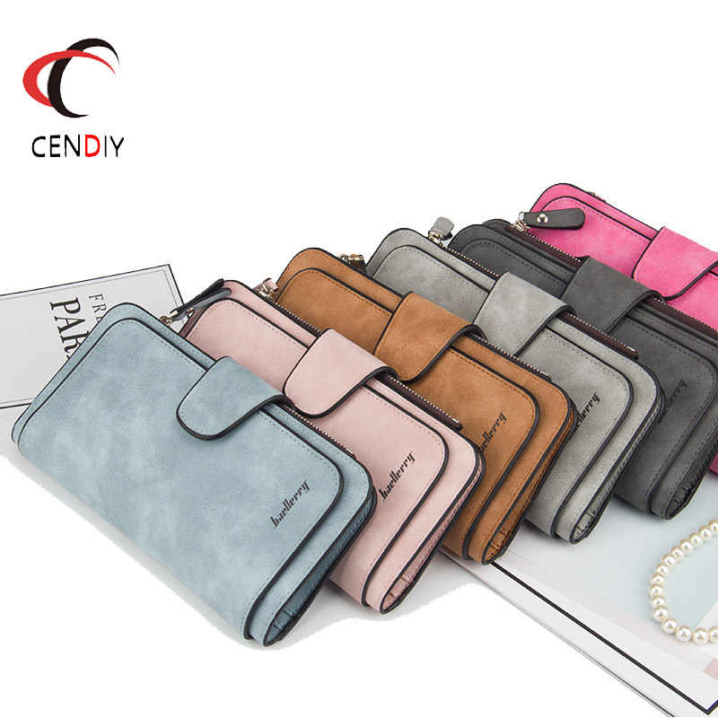 d3358456cc9 Long Wallet Women Purses Fashion Coin Purse Credit Card Holder Luxury Brand PU  Leather Wallets Female