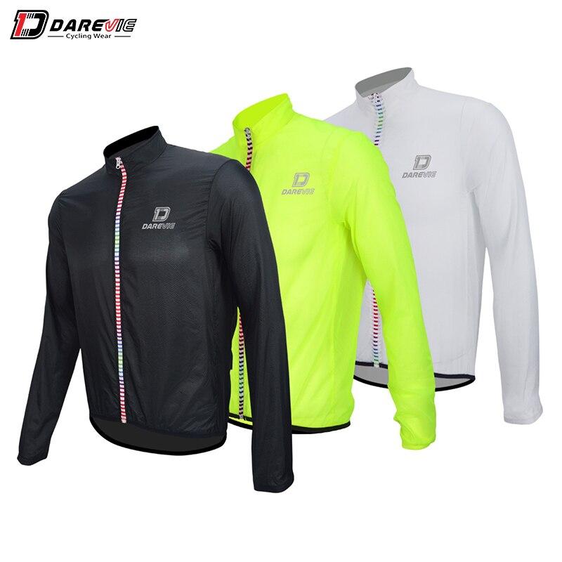 Darevie veste de cyclisme souple coupe-vent veste de cyclisme résistant à l'eau veste de cyclisme réfléchissante coupe-vent vestes de vélo