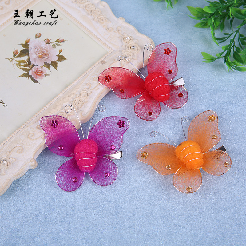 12pcs/lot 8cm Butterfly Decorative Clips Wedding Butterflies Decoration Kids hair clips Birthday Party DIY Baby Shower 6 Color