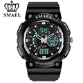 SMAEL brand men sports watches luxury digital LED electronic student wristwatch multifunction outdoor waterproof military watch