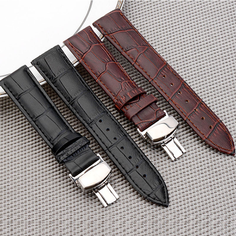 MEIKANGHUI Watchband 12 14 16 18 19 20 21 22 24 mm Soft Calf Genuine Leather Watch Strap 곡물 시계 줄 Tissot Seiko