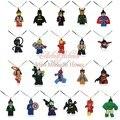 20 PCS Cadeias de Legos Super Hero Spider Man Super Homem Dos Desenhos Animados Pingente Colares Colar de Corrente Corda Menina Do Presente Do Partido