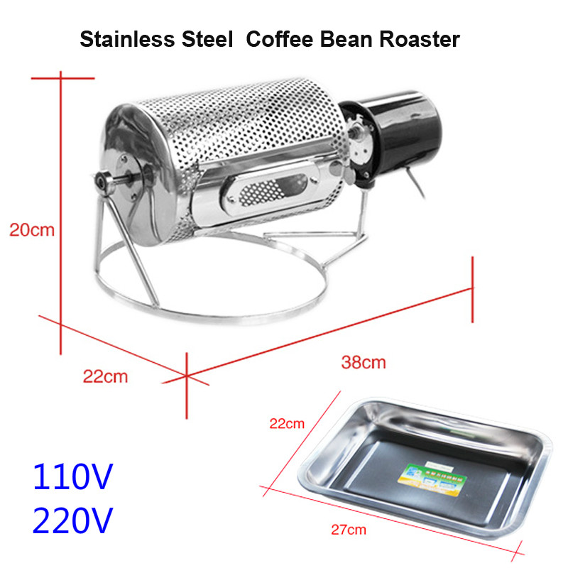 J66 Household stainless steel Bean Roaster Coffee Bean Roasting Machine 110V/220V Bean Baking Machine цена