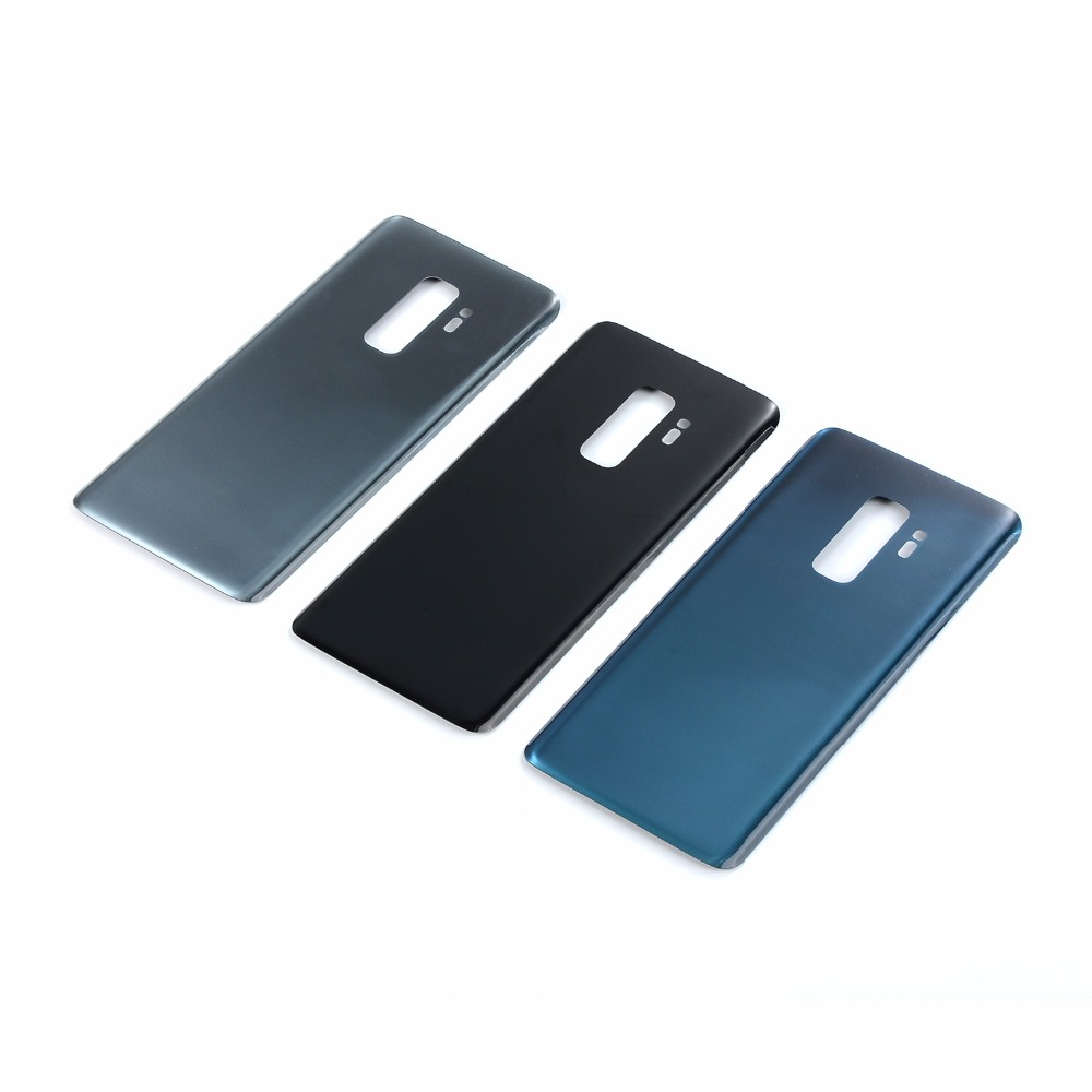 For Samsung Galaxy S9 <font><b>G960</b></font> G960F S9+ S9 Plus G965 G965F Housing Battery Glass <font><b>Back</b></font> Cover+Sticker Glue image