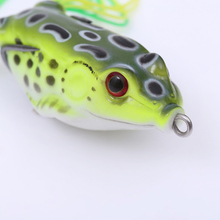 5PC/Lots Soft Frog Lure Bass Fishing Double Hooks Bait Crankbaits fishing Tackle Topwater Gear Accessories 5 colors