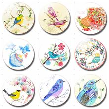Painting the Bird 30MM Fridge Magnet Cute Animals Refrigerator Magnet Glass Dome Magnetic Stickers Creative Home Decor painting the bird 30mm fridge magnet cute animals refrigerator magnet glass dome magnetic stickers creative home decor