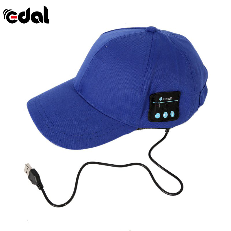 EDAL Men Women headphone Cap Unisex Wireless Sport Bluetooth Music Hat Cap Speaker Earphones Baseball Hats v4 0 edr bluetooth baseball hat