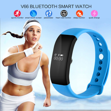 HESTIA V66 Bluetooth Smartband IP68 Waterproof Smart Wristband Sleep Heart Rate Monitor Sport Smart Bracelet for Android IPhone
