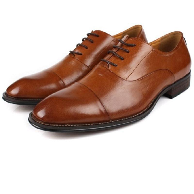 Auténtico Cuero Caballero Cómodo Encaje Mycolen Casual Transpirable Negro Nuevo Más naranja Zapatos Tamaño Hombre Vestido Clásico Planos xU4Ywq