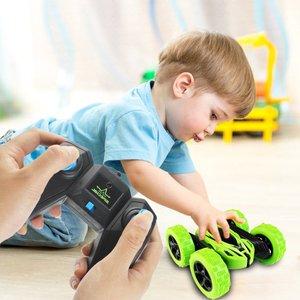Image 4 - Dublör Rc araba, uzaktan kumanda araba, 360 derece çevirir çift taraflı döner yarış arabası, yüksek hızlı yanıp sönen uzaktan kumandalı