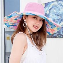 Женская солнцезащитная Кепка с широкими полями, складная Солнцезащитная ветрозащитная пляжная кепка NYZ Shop