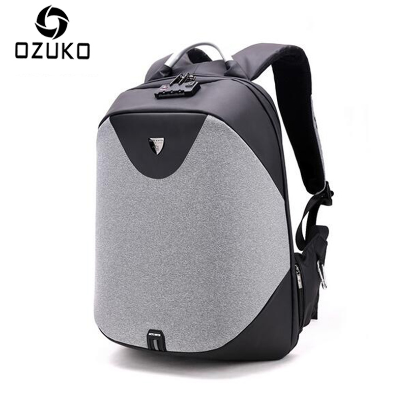 2018 Luxury Coded Lock Anti-theft Backpack Men Business 15.6'' Laptop Backpacks Fashion Student School Bag Casual Travel Mochila men business travel laptop backpack abs hard shell alien casual computer school backpacks daypack