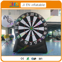 free shipping to door 2m/3m inflatable human foot dart board game,giant inflatable soccer dart boards,inflatable throw dart game(China)