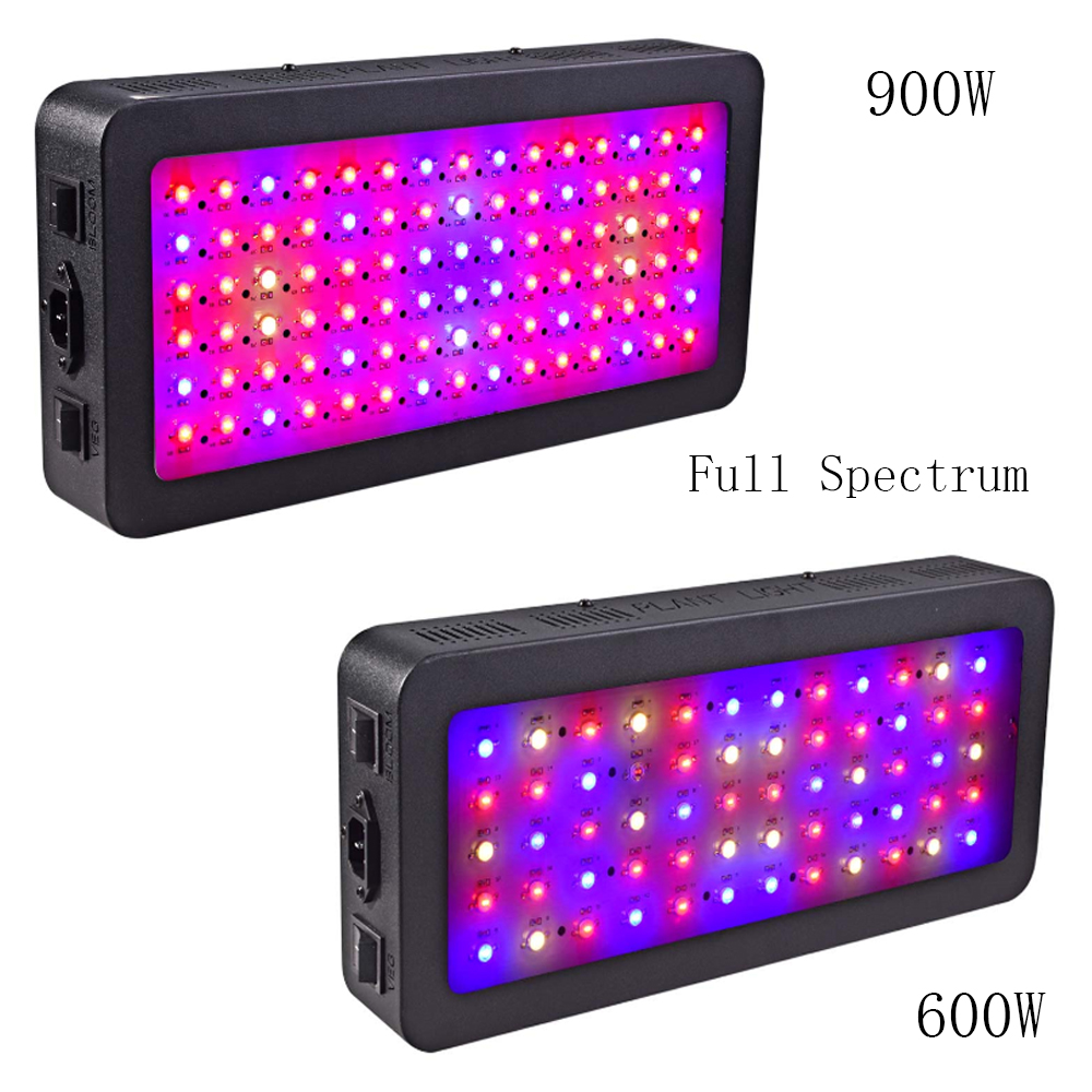 LED Plant Grow Light 600w 900Watt LED Grow Light Panel Full Spectrum IR UV for Indoor Medical Plants Veg and Flowering Blooming