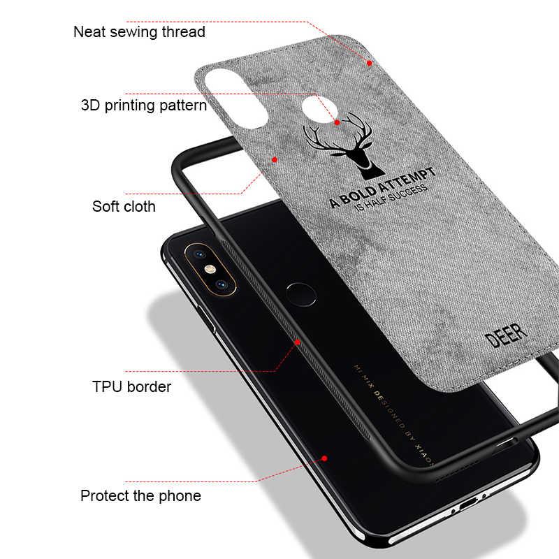 Pour Xiaomi Redmi Note 6 Pro luxe cerf souple TPU coque en silicone pour Xiaomi Redmi Norte 5 Pro 6 7 6A 5 Plus 5A couverture en tissu classique