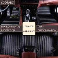 SCOTABC пользовательские автомобильные коврики для mitsubishi outlander 2001 2007 2010 2016 2018 автомобиля коврик комплект Tapete Para Карро automatten