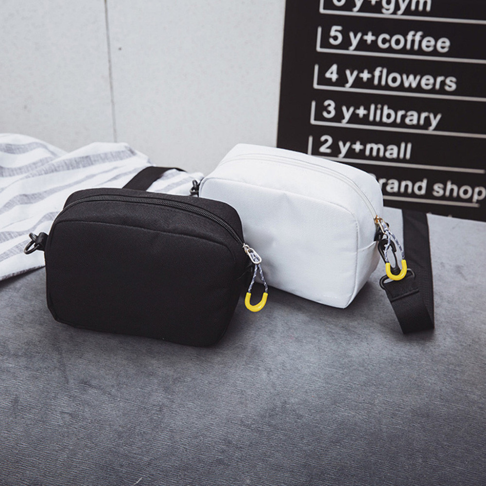 Solid Color Canvas Cross Body Small Shoulder Bag 2019 New Fashion Outdoor Bag Hip-Hop Handbag Zipper Shoulder Bags For Women #28