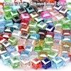 200 pcs/lot Square crystal beads  1