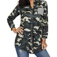 Military Uniform Army Green Cotton Shirts Women S Long Sleeve Summer Camouflage Shirt Casual Tops Big