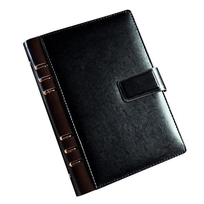 Black Brown Luxury High Quality Business Notebook Brand PU Leather Cover Journal A5 Spiral Office Supply Gifts high quality pu cover a5 notebook journal buckle loose leaf planner diary business buckle notebook business office school gift