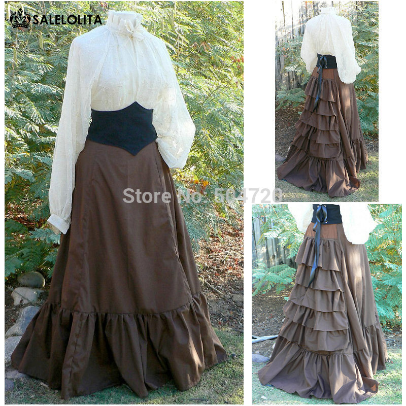 In 19 Century Vintage Costume Historical Dresses Gothic Lolita Dress/civil War Ball Halloween Dresses All Size Superior Quality