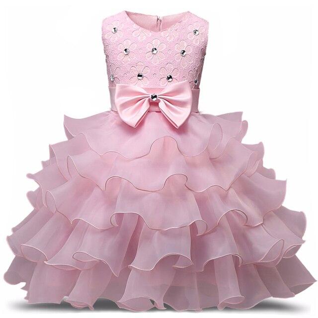 פרח שמלת ילדה 3-8 שנים פרחוני תינוק בנות שמלות Vestidos 9 צבעים מסיבת חתונת ילדי בגדי יום הולדת בגדים
