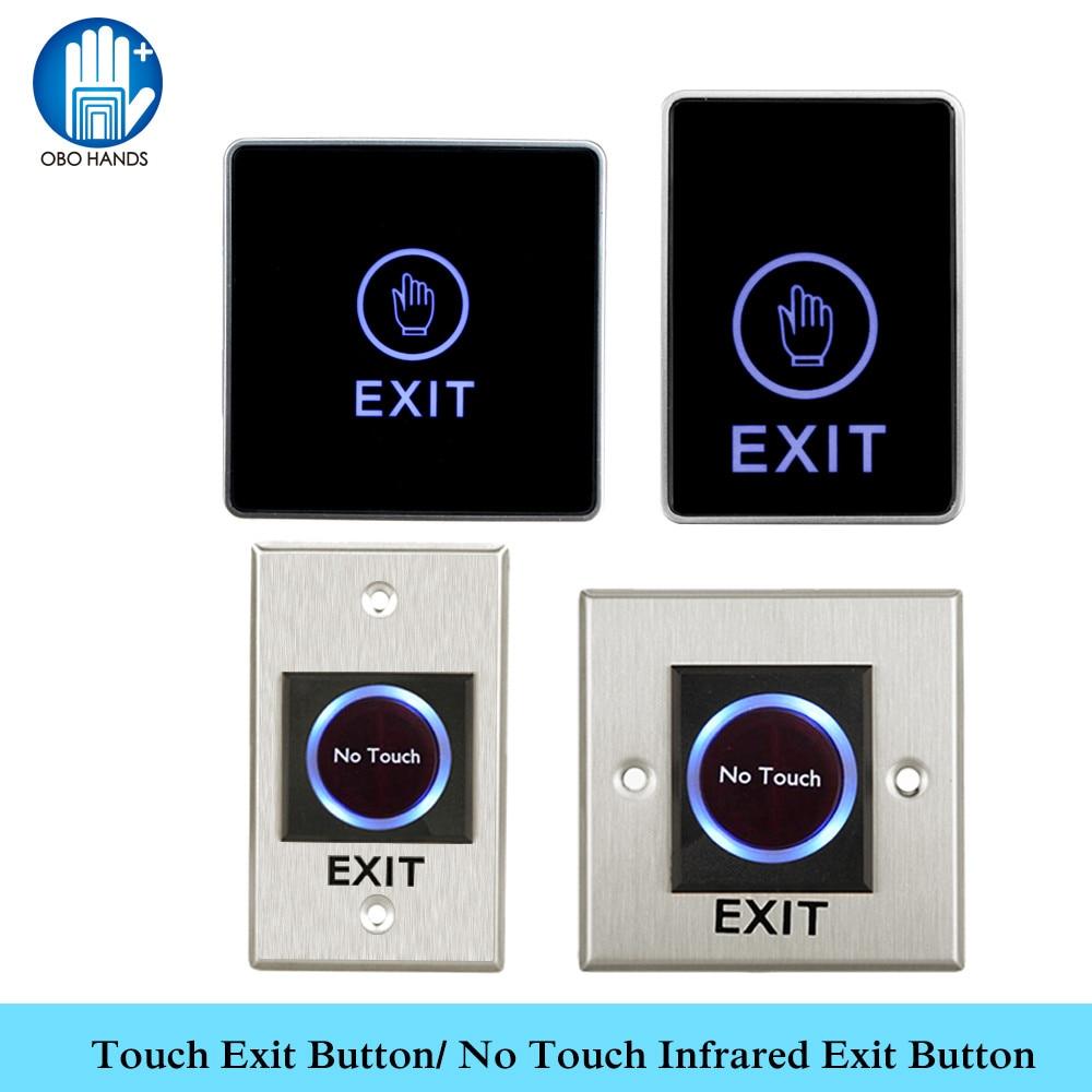 OBO сенсорная кнопка выхода, инфракрасный датчик, не сенсорный кнопочный переключатель, Бесконтактный выход для домашней двери, система контроля доступа