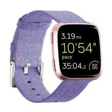 Купить с кэшбэком  relogio For Fitbit Versa Wristband Wrist Strap Smart Watch Band Strap Soft Denim Watchband Replacement Smartwatch Band