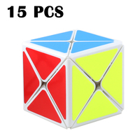 15PCS ShengShou 73mm Eight axis Magic cube Smooth Strange shape Cubo magico White Neo Cube Colorful sticker Puzzle cube Toys