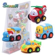 4 шт./компл. Симпатичный Робот Pull Back Car Toys Универсальной Детской Игрушки Фигурку Дети Toys Cars Кукла Мальчик Подарок На День Рождения коллекция Toys # D