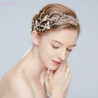 Jonnafe 2018 Stunning Wedding Tiara Rhinestone Headband Silver Bridal Hair Crown Accessories Women Prom Hair Piece Jewelry