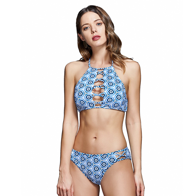 Home Devoted Bikini 2019 Tube Top Swimsuit Female Off Shoulder Swimwear Dot Print Bathing Suit Special Fabric Beachwear Womens Swimming Suit Attractive Fashion