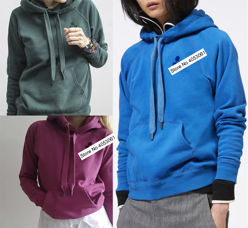 Green Blue Rose Red Cotton Blend Letter Print Fleece Hooded Sweatershirt Fall Winter Spring Women Letter